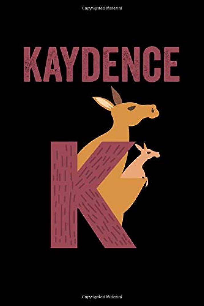 調整する愛人居眠りするKaydence: Journal (Diary, Notebook) Personalized Custom Name Alphabet Kangaroo Birthday Gift for Girls
