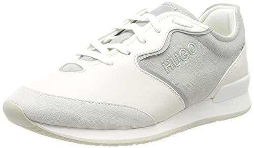 HUGO Damen Amy_Vint_Scl Sneaker, White100, 37 EU