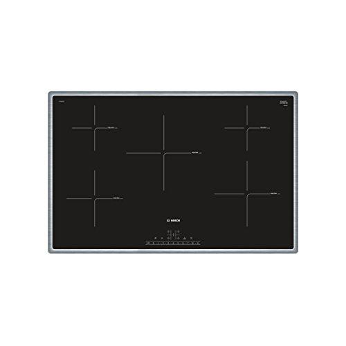Bosch Serie 6 PIV845FB1E kookplaat zwart, roestvrij staal met - kookplaat (zwart, roestvrij staal, inductie, glas en keramiek, roestvrij staal, AENOR, CE)
