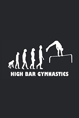 High Bar Gymnastics: Notebook with 120 pages (Lined), 6x9 inches (15,24 x 22,86 cm)