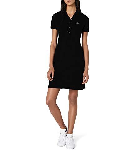 Lacoste Damen Fit Slim Kleid Ef8470 Knielang, Schwarz (Noir), 38