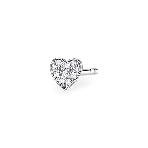 Thomas Sabo - Ear stud, 925 sterling silver, heart shape, single stud