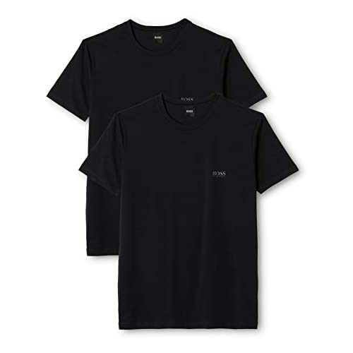 BOSS Hugo Boss T-Shirt RN 2P CO/EL, T-shirt Uomo, Nero (Black), XX-Large