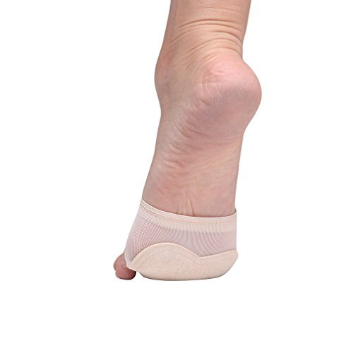 UPRIVER GALLERY Lyrical Ballet Foot Thong Yoga Socks Moden Dance Paw Pads M Nude