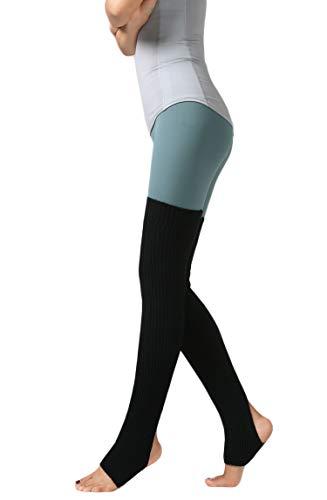 Santwo Calze termiche sopra il ginocchio, unisex, da adulto, per danza e yoga 1 paio, colore nero. 75 cm