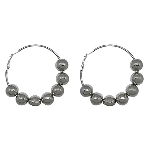 CLKE Pendientes de aro de plata para mujer, pequeños pendientes de plata de ley con cuentas para cartílago pequeño, joyería para hombres y mujeres