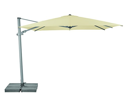 Suncomfort by Glatz Varioflex, ecru, 300x300 cm quadratisch, Gestell Aluminium, Bespannung Polyester, 30 kg