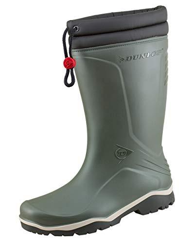 Dunlop Protective Footwear Unisex-Erwachsene Blizzard-X Kälte isolierende Gummistiefel inkluisve Hochwertigen Profilsohlenreiniger - Oliv - Gr. 40