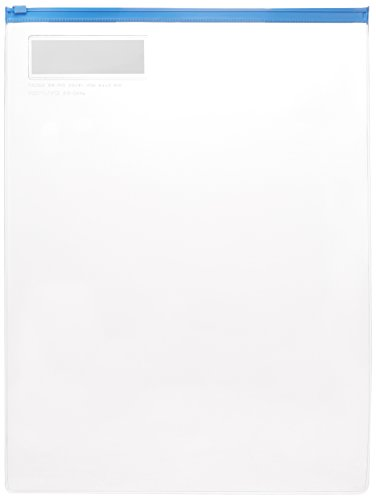 コクヨ ソフトクリヤーケース チャック付き 軟質 B4 青 クケ-344B