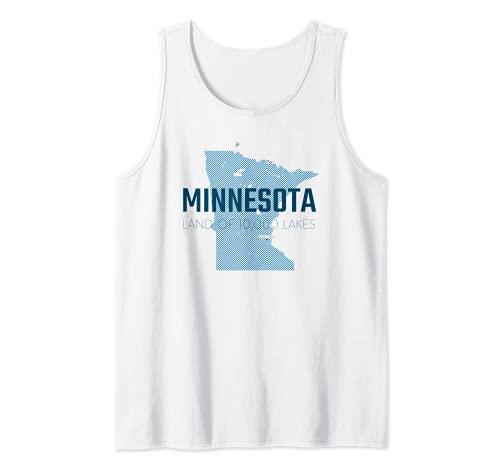 Carte du Minnesota - La terre des 10 000 lacs - État d étoiles du Nord Débardeur