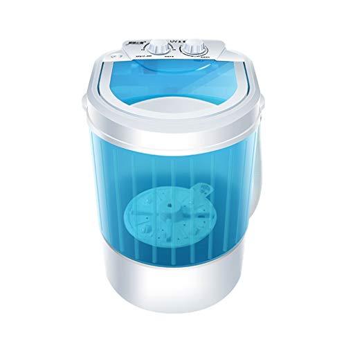 WASHING MACHINE 1 Lavadora de Camping Mini Lavadora Lavadora Secadora Ahorro de energía 1.2 kg Capacidad 260 W para Ropa Individual y para bebés Manija de bajo Nivel de Ruido económico Azul