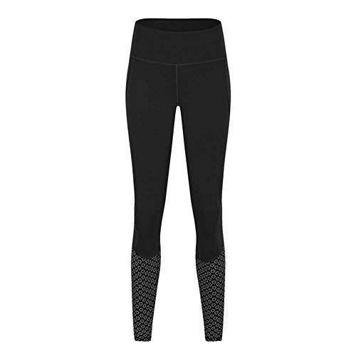 YSHJF Hoge Taille Strakke Leggings Vrouwen Printing Patroon Four-Way Stretch Yoga Broek Tailleband Ritssluiting Pocket Gym Fitness