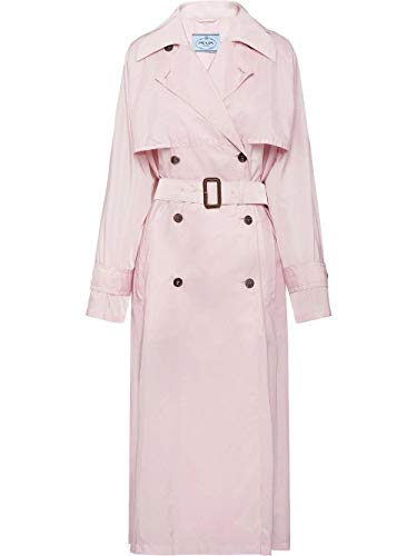 Luxury Fashion | Prada Dames 291168S201Q04F0384 Roze Polyamide Trenchcoats | Lente-zomer 20