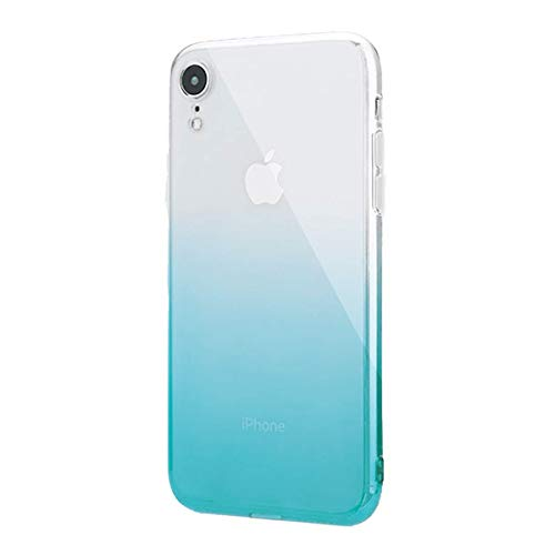 Alsoar Silicona Gradiente de Color TPU Suave Funda Compatible para iPhone 6/iPhone 6S Ultra-Fina Moda Transparente Protectora Carcasa Flexible Cristal Anti-Arañazos Estuche (Turquesa)