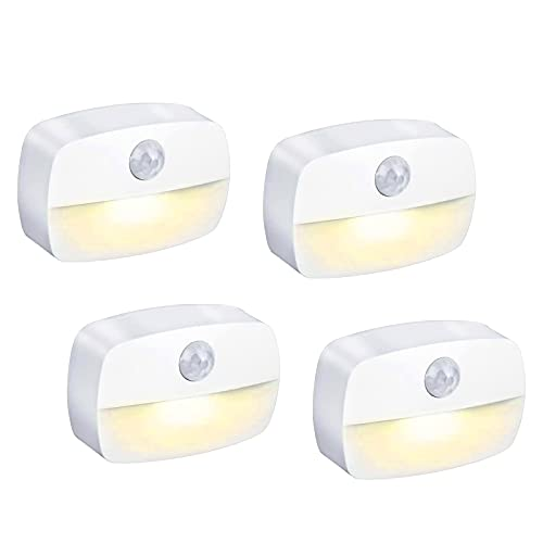 Sensor de luz ,Luz Nocturna Sensor Movimiento ,[4 unidades] detector luz...
