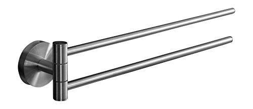 Ambrosya® | Exclusivo toallero de acero inoxidable | Cuarto de baño Soporte de baño Toalla Toallero Rack Barra Rod WC (Acero inoxidable (Cepillado), 37,9 cm)