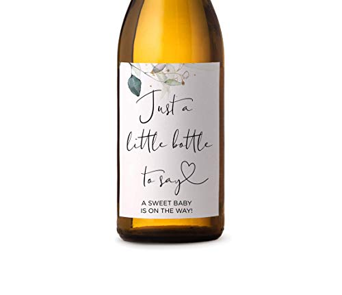 Pregnancy Reveal Wine Label