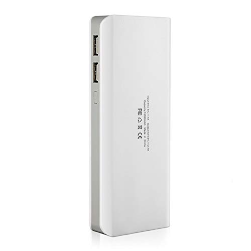Triamisu 13000mah Power Bank Case Baterías externas Banco de Respaldo para teléfono móvil portátil con Dos Cargador de Interfaz USB Banco de energía portátil - Conjunto Romano Blanco