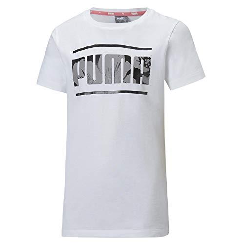 PUMA Mädchen Alpha Tee G T-shirt, White, 152