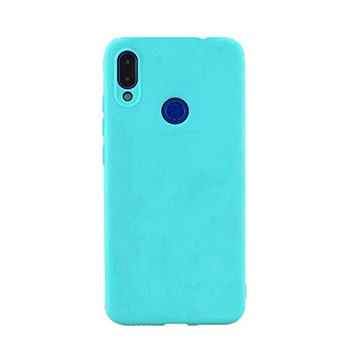 cuzz Custodia Samsung Galaxy A40+{Film di Vetro temperato}Silicone TPU Cover Morbida Protettiva Custodia Ultra Sottile Leggero Cover-Blu Chiaro