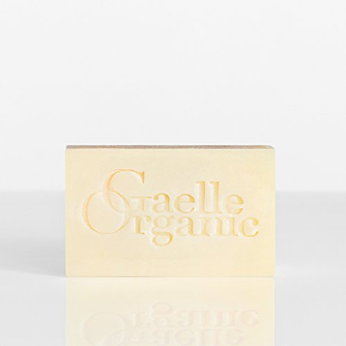 Gaelle Organic Soap Superieure - All Natural Hydrating Face Cleanser with White Clay and Lavender - Purifying Soap Bar for Dry Skin, Anti Aging - Non-Drying, Sulfate Free, Cruelty Free - 6oz.