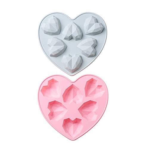 KANKOO Molde Silicona Horno Moldes Reposteria Silicona Moldes para Hornear Pasteles Latas de Pastel en Forma de corazón
