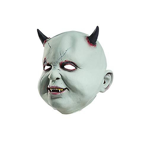 Wansan Teufel Maske Scary Zombie Puppen Maske Hölle Satan Dämon Zauberer Horror Baby Latex Maske für Erwachsene Maskerade Geburtstagsfeiern Karneval Dekorationen