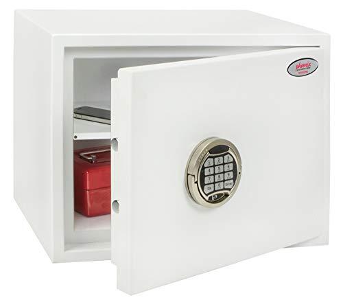 Phoenix SS1182E - Cassaforte, chiusura elettronica, EN14450-S2 ECB.S, colore: bianco, 28 l