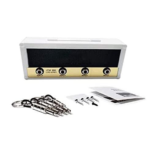 Soporte de llave de amplificador de guitarra de montaje en pared Caja de almacenamiento de llaves con licencia Decoración del hogar Vintage Llaveros de montaje en pared Rack Quick