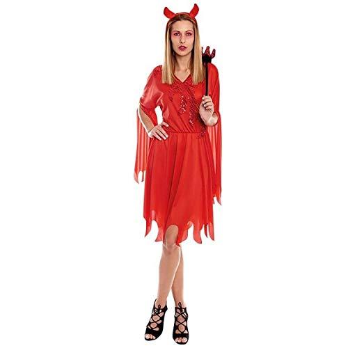 H HANSEL HOME Disfraz Diablesa Adulto - Mujer Incluye Vestido + Diadema Cosplay/Carnaval/Halloween Size M