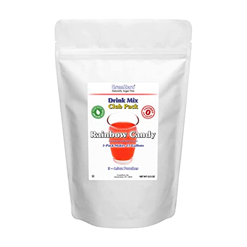 GramZero Rainbow Candy Zero Calorie Sugar Free Drink Mix, Great For Nutrition Club Loaded Teas, Stevia Sweetened