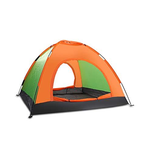 XJH-tunnelzelte Zelt im Freien 3-4 Personen Camping verdickt Anti-Sturm-Camping Wildpark, Strand lässig Berg Handbuch schnell öffnen tragbare einzelne Regen Zelt Familienzelte Bergwald Rucksack Zelte