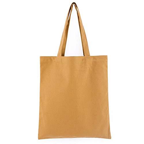 Wimark Einkaufstasche aus Leinen, einfarbig, umweltfreundlich, 37 x 38 x 12 cm, Hellbraun