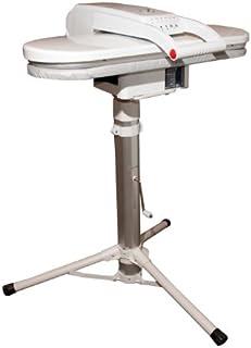 Presse à vapeur ESP avec Support/Socle Télescopique Réglable en Hauteur - Blanc (+ Une Housse et une Bande en Mousse Extra...