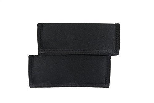 Copertura maniglie doppia - manicotti corti per passeggini (nero)