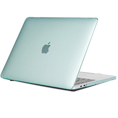 TECOOL Funda MacBook Pro 15 2016/2017/ 2018/2019, Slim Cubierta de Plástico Dura Case Carcasa para Apple MacBook Pro 15,4 con Touch Bar y Touch ID (Modelo: A1707 / A1990) - Cristal Verde