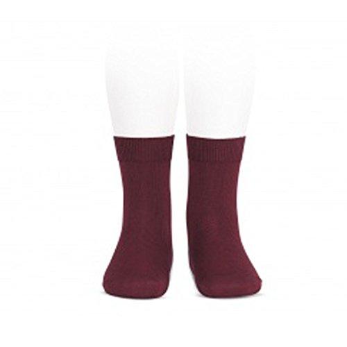 Calcetines Cóndor cortos lisos (8, Granate)
