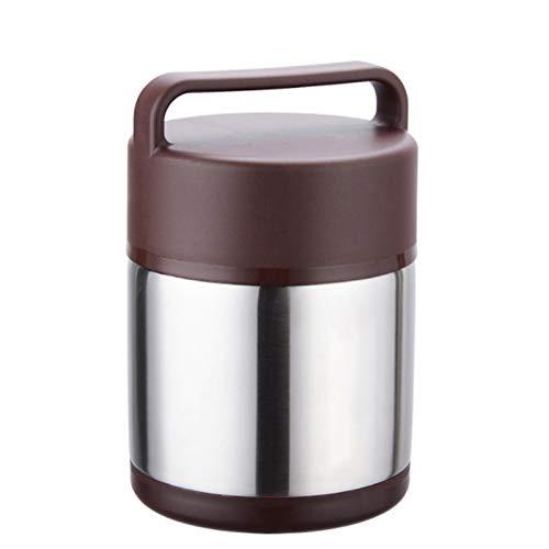 Isolier Speisegefäß, Doppelwandig Thermobehälter Lunchbox Für Büro Schule Unterwegs 2.0L, Edelstahl Vacuum Isolier Speisegefäß, Antirutsch Abriebfest