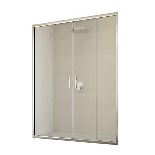 Idralite Duschtür Young 2 Türen 130CM H198 Strukturglas C