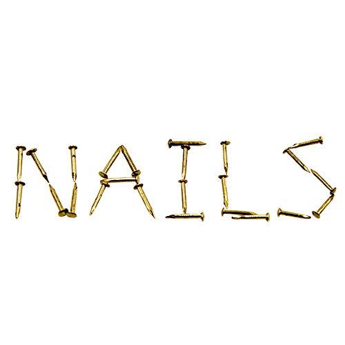 Kleine Nägel Runde Kopf hölzernes Nagel-Antike Kleine Nägel Holz Handgefertigte Hardware Zubehör Befestigungen 500 STÜCKE 1 X 10mm Gold