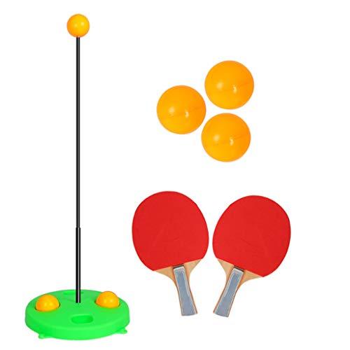 LYXCM Dispositivo de Entrenamiento de Tenis de Mesa, Equipo Deportivo para niños Equipo de Entrenamiento para detección de Gimnasia Altura Ajustable para niños
