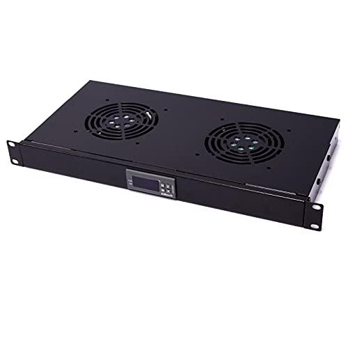 """RackMatic - Kit de ventilación con termostato para Armario Rack 19"""" de 2 Ventiladores de 120mm"""