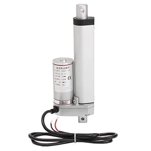 LF_FFa 1pc 150KG 1500N Rango de Voltaje de 4-18 Pulgadas 330lbs DC 12V actuador Motor eléctrico Lineal for Lectric Auto Monociclo Vespa Entrada (Color : 10 Inch 250mm, tamaño : 12V)