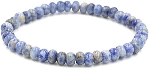 Pulsera de buena suerte Pulsera de piedra Mujer, 7 Chakra Piedra Natural Beads Azul Semi-precioso Brazalete Elástico Hombres Joyería Yoga Energía Reiki Reza Charm Diffuser Regalo para padre y novio Un
