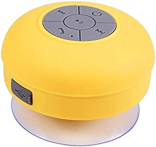ZYZRYP BTS06 Wireless Portable Mini Bluetooth Speaker Waterproof Sound Water Car Speakers Resistant Bathroom Shower Bar PK A9 Q9 S28 (Color : Yellow with box)