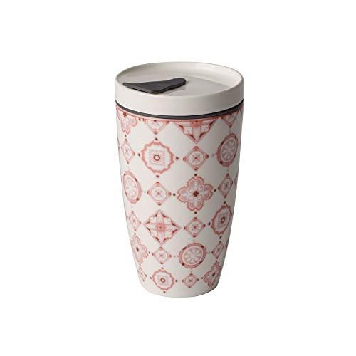Villeroy & Boch Rose Coffee-to-go-Becher, Premium Porzellan, Rosé, 350 mL