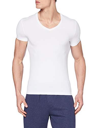 HANRO Herren V-Shirt 1/2 Arm Micro Touch (0101 white), Gr. XXL