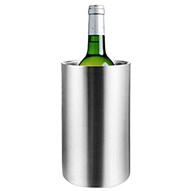 Hount Stainless Steel Wine Chiller Bucket Double Walled Champagne Beer Ice Bucket