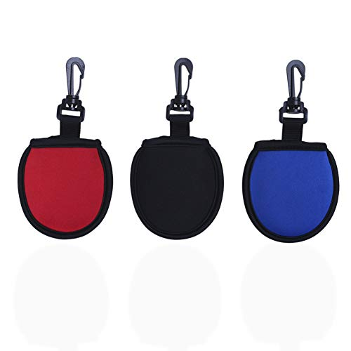 HOW TRUE 3 Pack Golf Ball Cleaner Pouch with Clip...