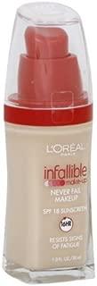 L'Oreal Paris Infallible Advanced Never Fail Makeup, Soft Ivory (2-Pack)